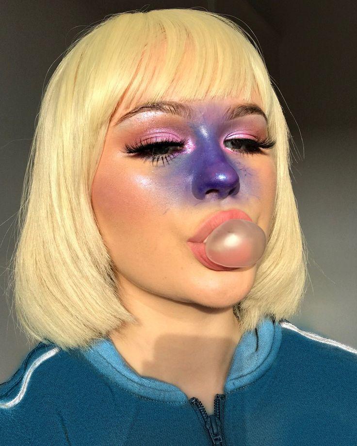Ellie Addis Violet Beauregarde Halloween Makeup Kostüm #halloweenaesthetic