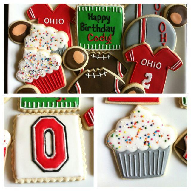 Ohio State Buckeye Cookies Ohio State Cake Osu Dessert