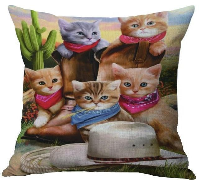 Cat Lovers – Detailed Cushion Throw Pillow Covers – 22 Styles
