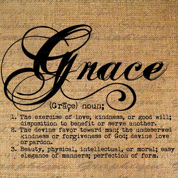 Definition Grace Text Typography Words Digital Image