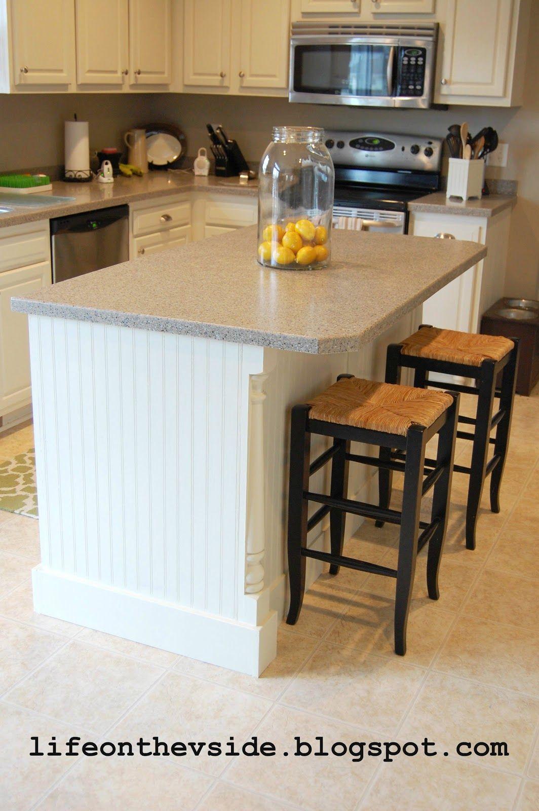 DIY Kitchen Island Update Tutorial @ lifeonthevside.blogspot.com ...