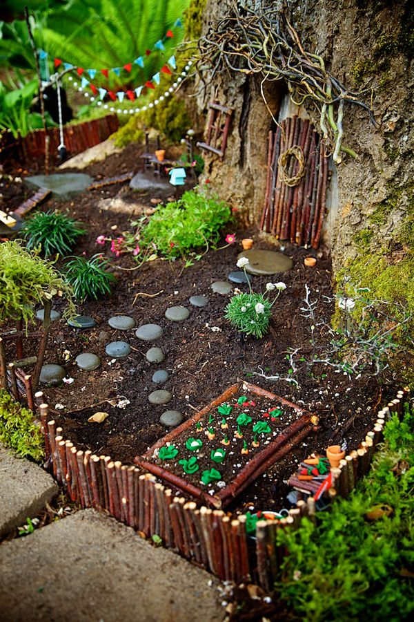15 Fabulous Fairy Garden Ideas Gardens So cute and Tree trunks