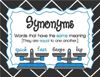 Freebie Weighing Words Identifying Synonyms And Antonyms Anchor Charts And A Center Synonyms And Antonyms Teaching Synonyms Antonyms Activities