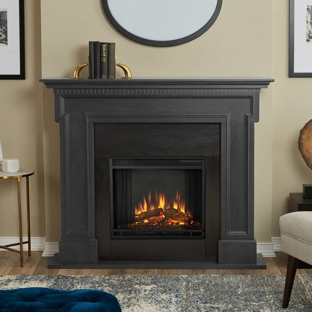 Real Flame Thayer 54 In Electric Fireplace In Gray 5010e Gry