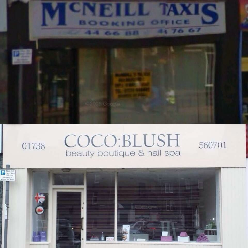 Coco blush Perth nail spa salon before and after transformation