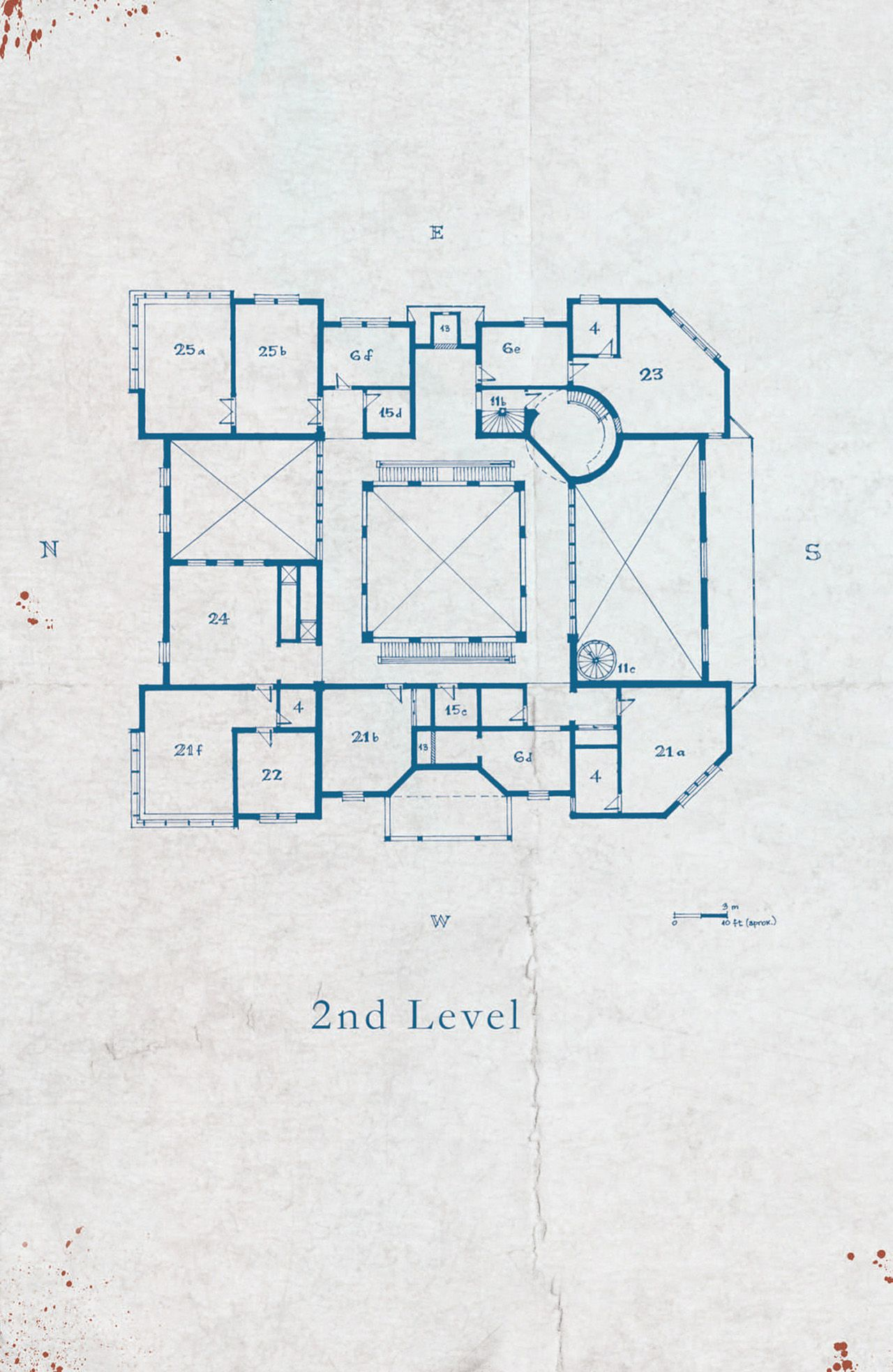 Keyhouse Manor Blueprints 03 Second Level Comics