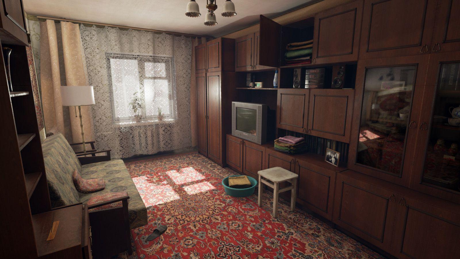 Russian Living Room (UE4), Dmitriy Masaltsev on ArtStation at https://www.artstation.com/artwork/5owmP