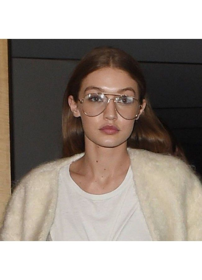 9e4041360c Gigi Hadid Style 58mm Aviator Celebrity Clear Glasses in 2019 ...