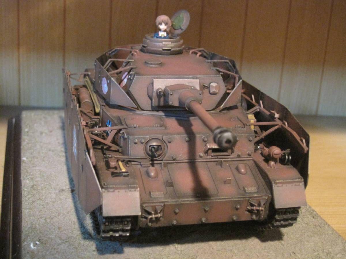 完成品 1 35 ガールズ パンツァー 号戦車 D型改h型 西住みほ付き 画像2 Iv号戦車 戦車 パンツァー