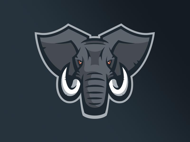 Elephant Logo Elephant Logo Sports Logo Design Animal Logo