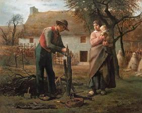 jean fran ois millet paysan avec la branche d 39 un arbre le greffeur tenues 1850 pinterest. Black Bedroom Furniture Sets. Home Design Ideas