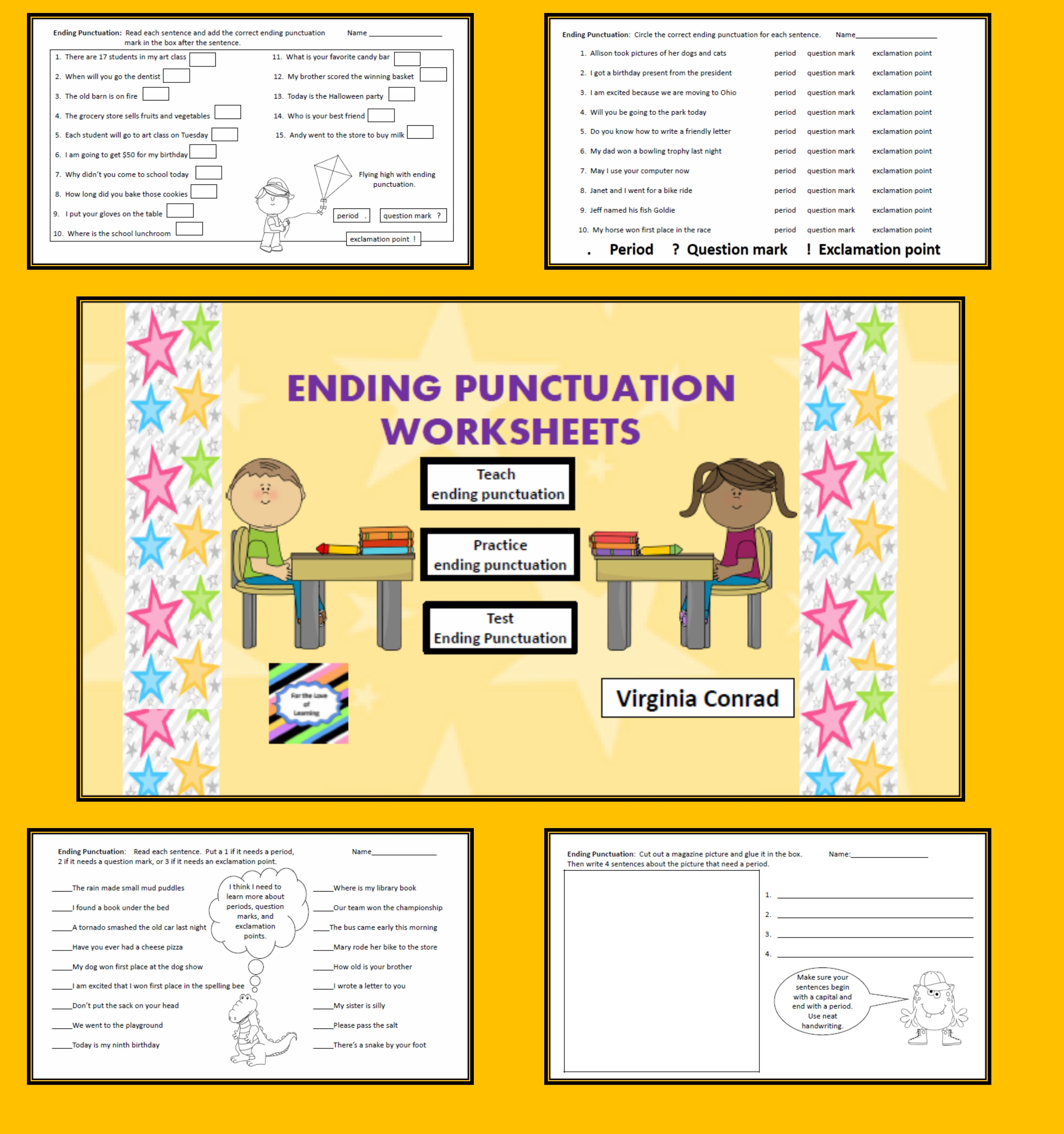 Ending Punctuation Worksheets 10 Worksheets