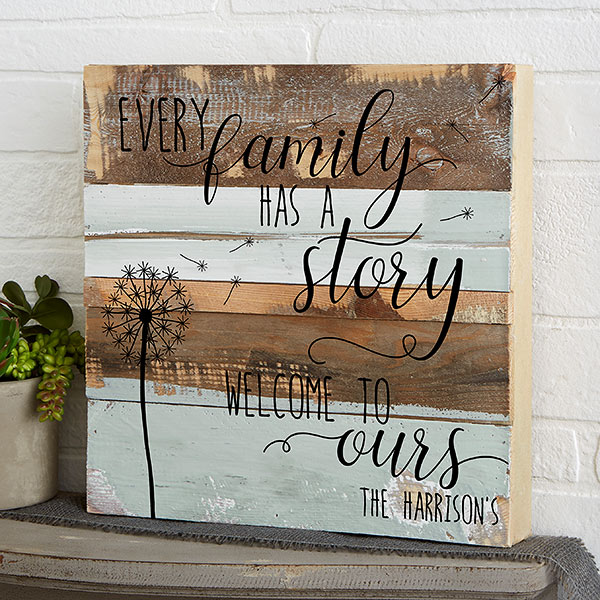Personalized Rustic Reclaimed Wood Wall Art Family Story 19699 Reclaimed Wood Wall Art Diy Wood Signs Rustic Wall Art