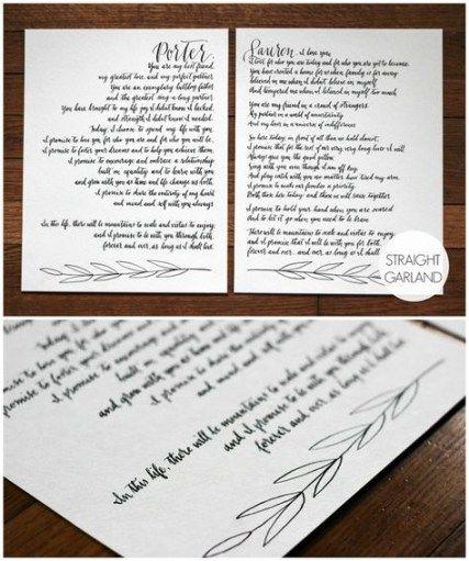 Wedding Vows Calligraphy Ideas 35+ Ideas