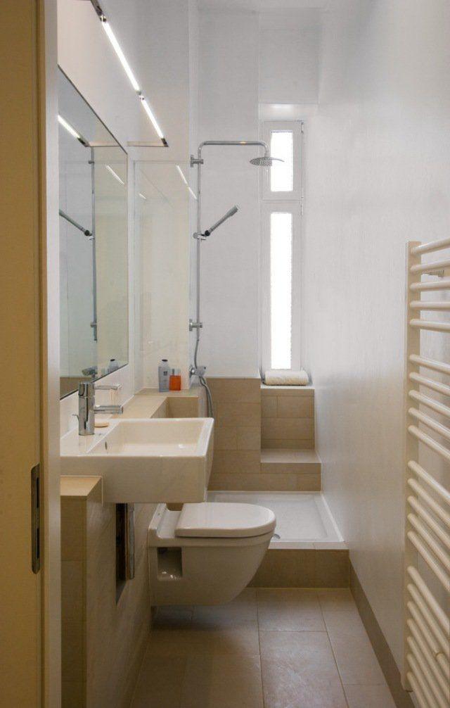 petite salle de bains 47 id es inspirantes pour votre espace amenagement toilettes. Black Bedroom Furniture Sets. Home Design Ideas