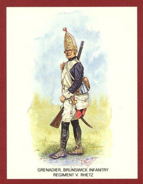 Grenadier, Brunswick Infantry -- 1776