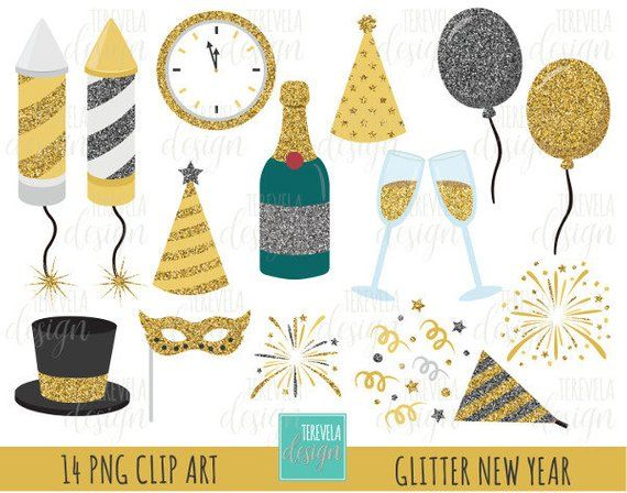 50 sale glitter new year clipart glitter clipart happy new year graphic instant download party