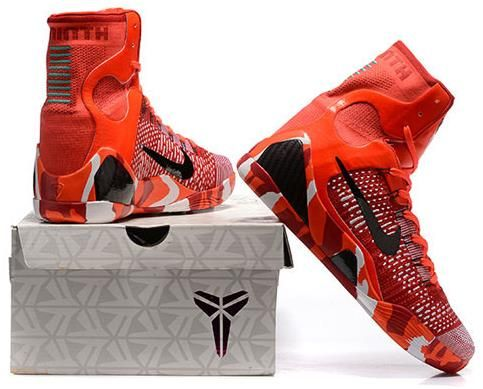 new product fcf79 e3ae4 Nike Kobe 9 Mens Basketball Shoes Christmas | Kobe 9 High ...