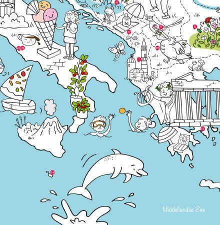 Kleurplaten Van Europa.Op Reis Met De Grootste Speel Kleurplaat Van Europa De Wereld