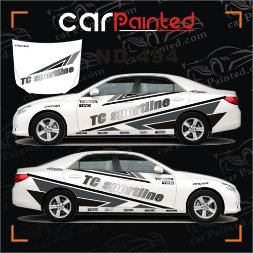 Personalized whole car stickers english automotive garland tc sportline car decals piece