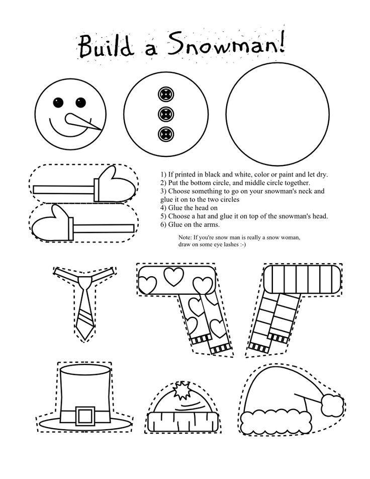 74ba933efde Frugal Edmonton Mama  Frugal Crafts  Preschool Snowman Shape Cutting and  Piecing Activity