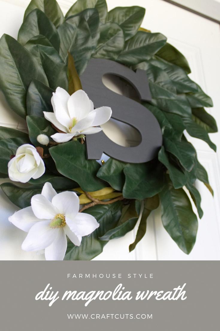 Photo of Farmhouse Style DIY Magnolia Wreath   CraftCuts.com #summerdecor