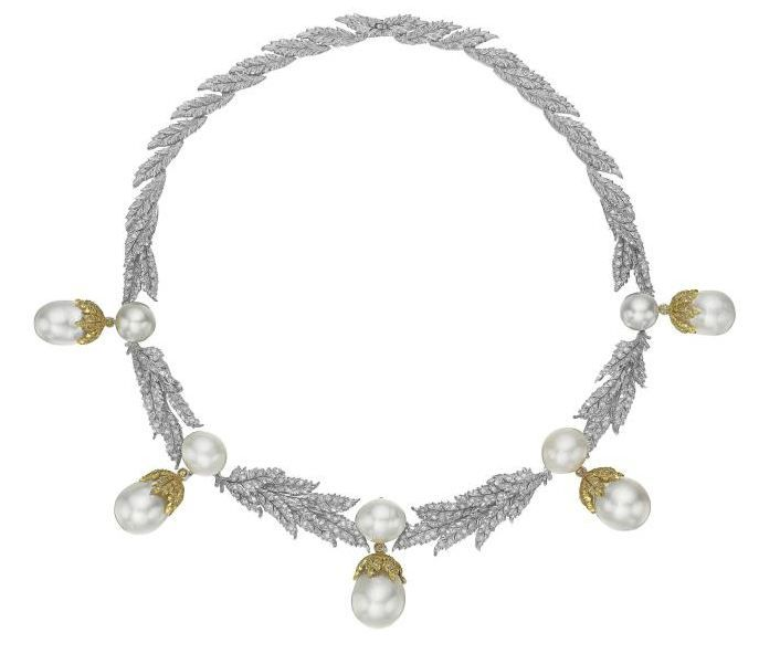 Lot 278 - An Impressive Cultured Pearl and Diamond Necklace, BUCCELLATI