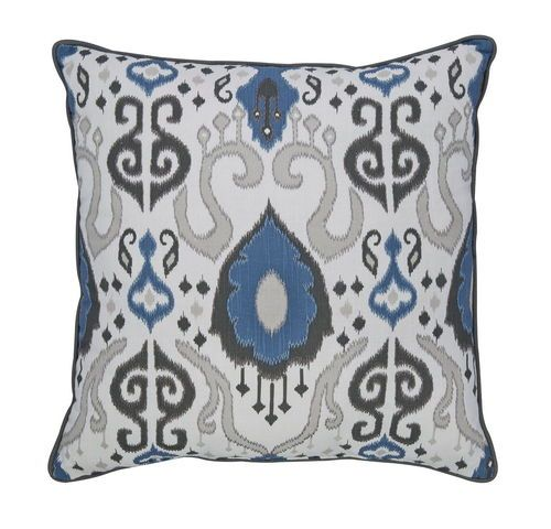 Ashley Russell Brown Blue Pillow In 2020 Boho Throw