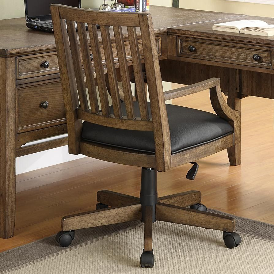 Superior Rotating Oak Wooden Desk Chair   Google Search