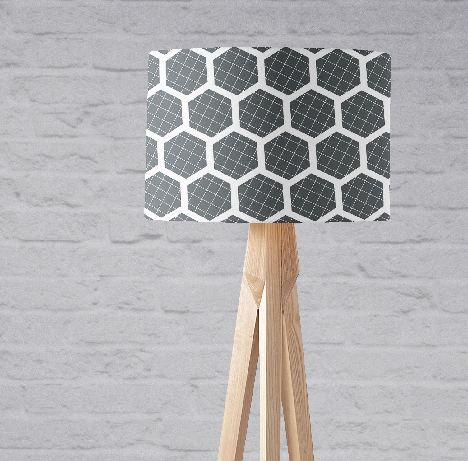 Geometric Lamp Shades Grey Hexagon Hexagon Lampshade Grey And
