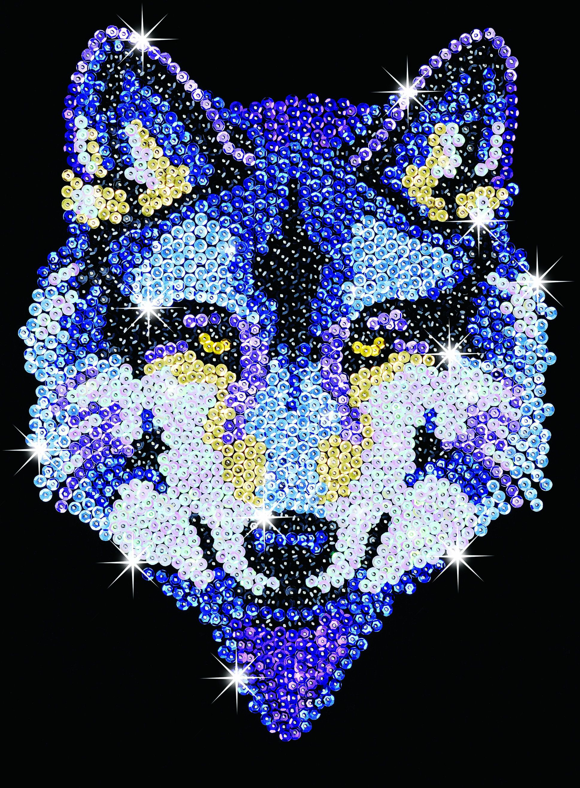 sequin pin crafts | Sequin Art Wolf Craft Kit - available from Hobbies, the UK's favourite ...