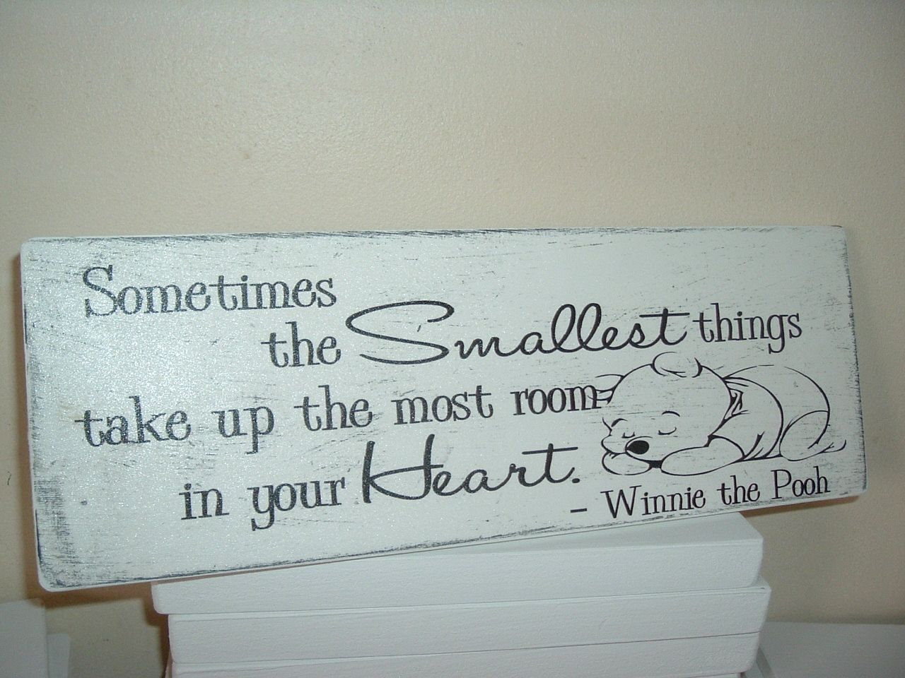 Winnie the pooh if you live to be 100 I hope i live shabby /& chic plaque sign