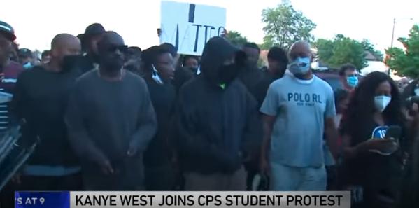 Kanye West Joined Student Lead Protest On The Southside Of Chicago Thursday Kanye West Kanye Student Led