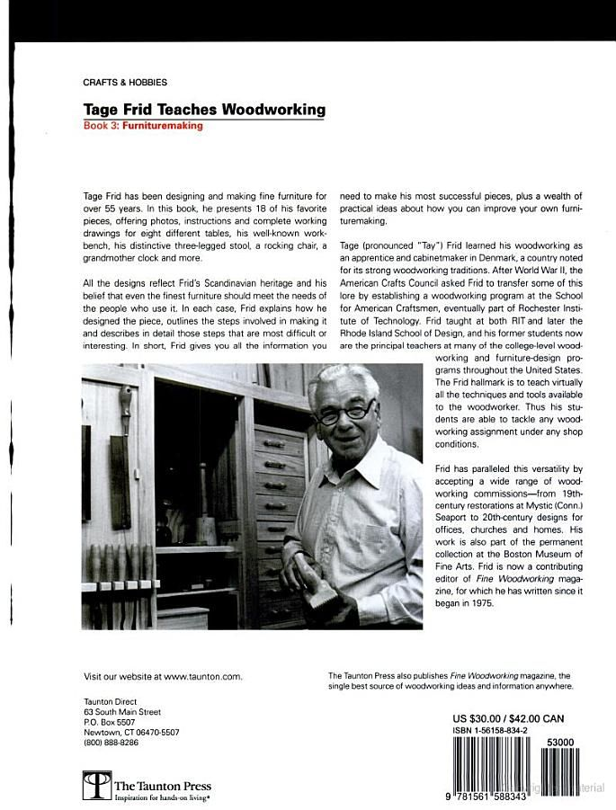 Tage Frid Teaches Woodworking Woodworking Books Woodworking Fine Woodworking