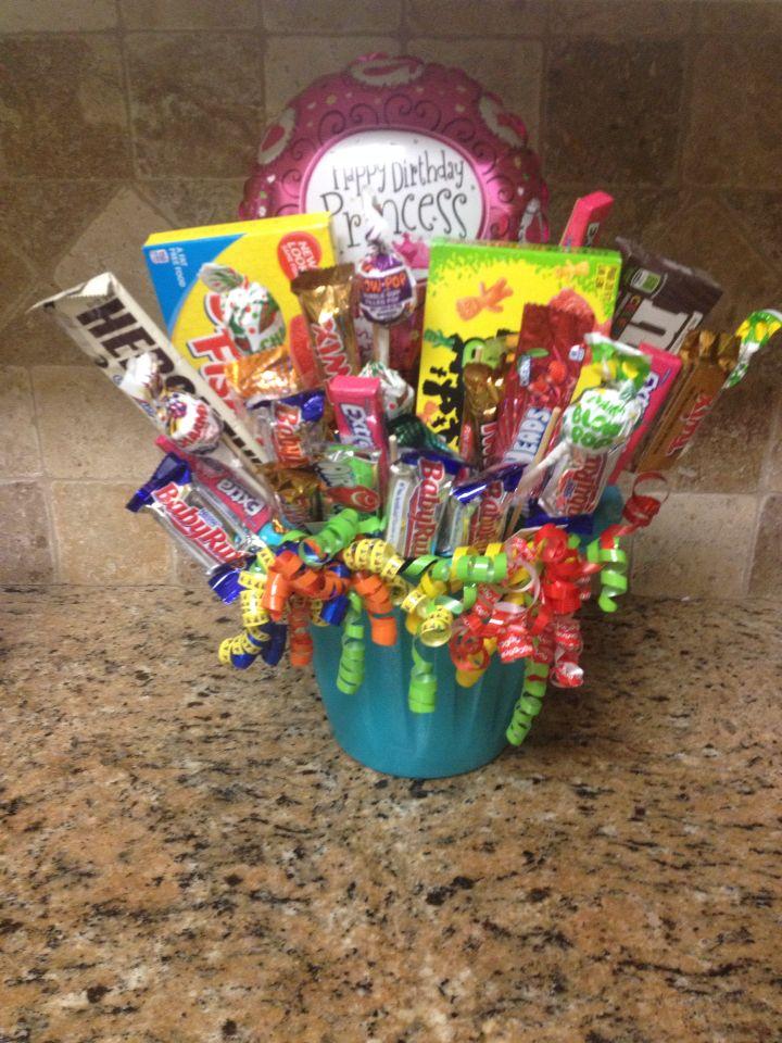 Birthday candy bucket!