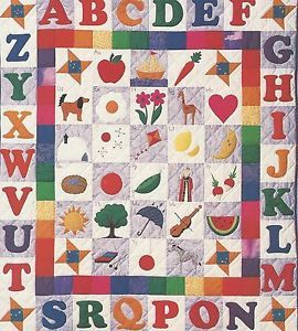 Alphabet applique Quilt Pattern by Country Quilter | Applique ... : alphabet quilt patterns - Adamdwight.com
