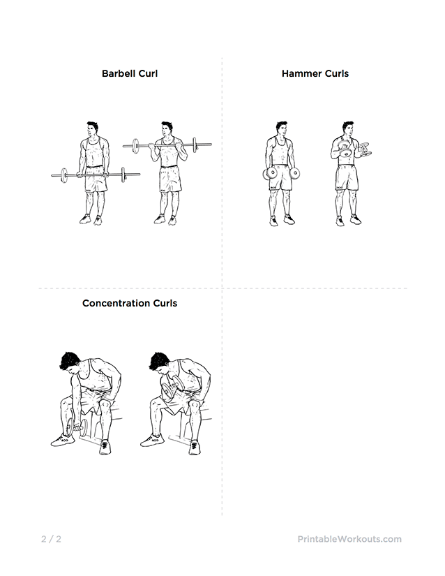 mike chang u0026 39 s actual chest and bicep workout  u2013 printable