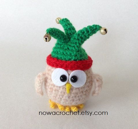 Owl in joker hat. 9 cm tall. Handmade by Tamara Nowack | Owls ...