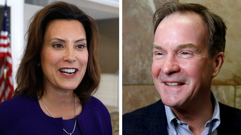 Race For Mich Governor May Be Tightening Whitmer Leads Schuette By 8 With Images Governor Tighten New Politics
