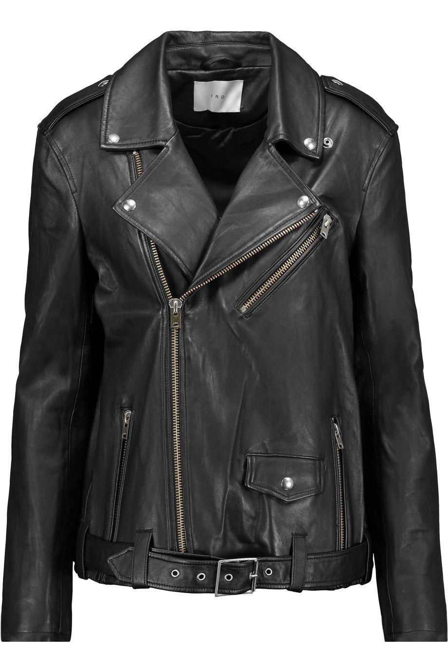 Iro Glippy Leather Biker Jacket Modesens Designer Jackets For Men Biker Jacket Jackets [ 1380 x 920 Pixel ]