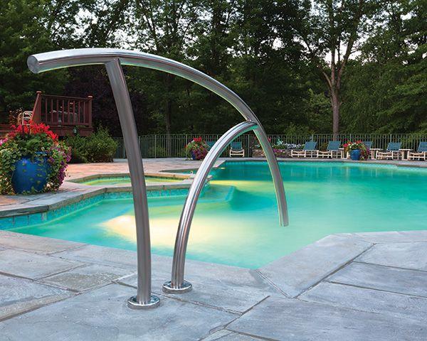 Swimming Pool Stair Rails | Artisan Hand Rail | S.R. Smith ...