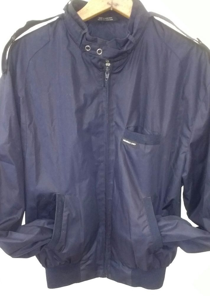 Vintage MEMBERS ONLY Racer Blue Jacket Mens Size 40 retro hipster cafe L #MembersOnly #BasicJacket