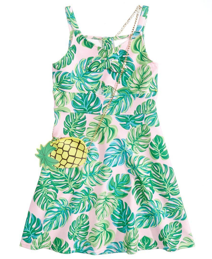 Us Angels Tropical Print Sundress, Big Girls | Products