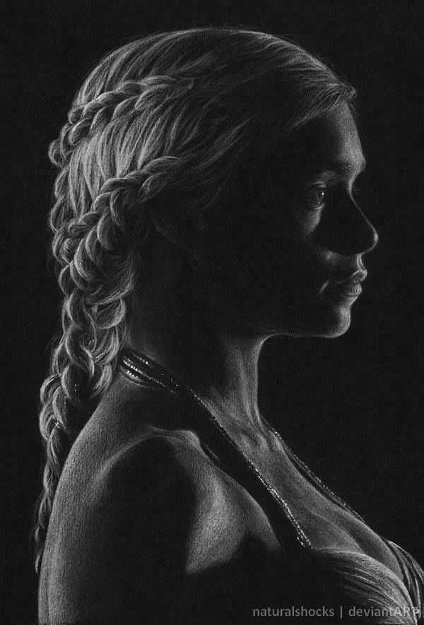 Fascinating White Pencil on Black Paper Drawings by ...