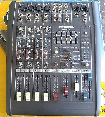 mackie dfx 6 6 channel mixer w digital effects live sound pa system mixer mixer mackie mixer. Black Bedroom Furniture Sets. Home Design Ideas