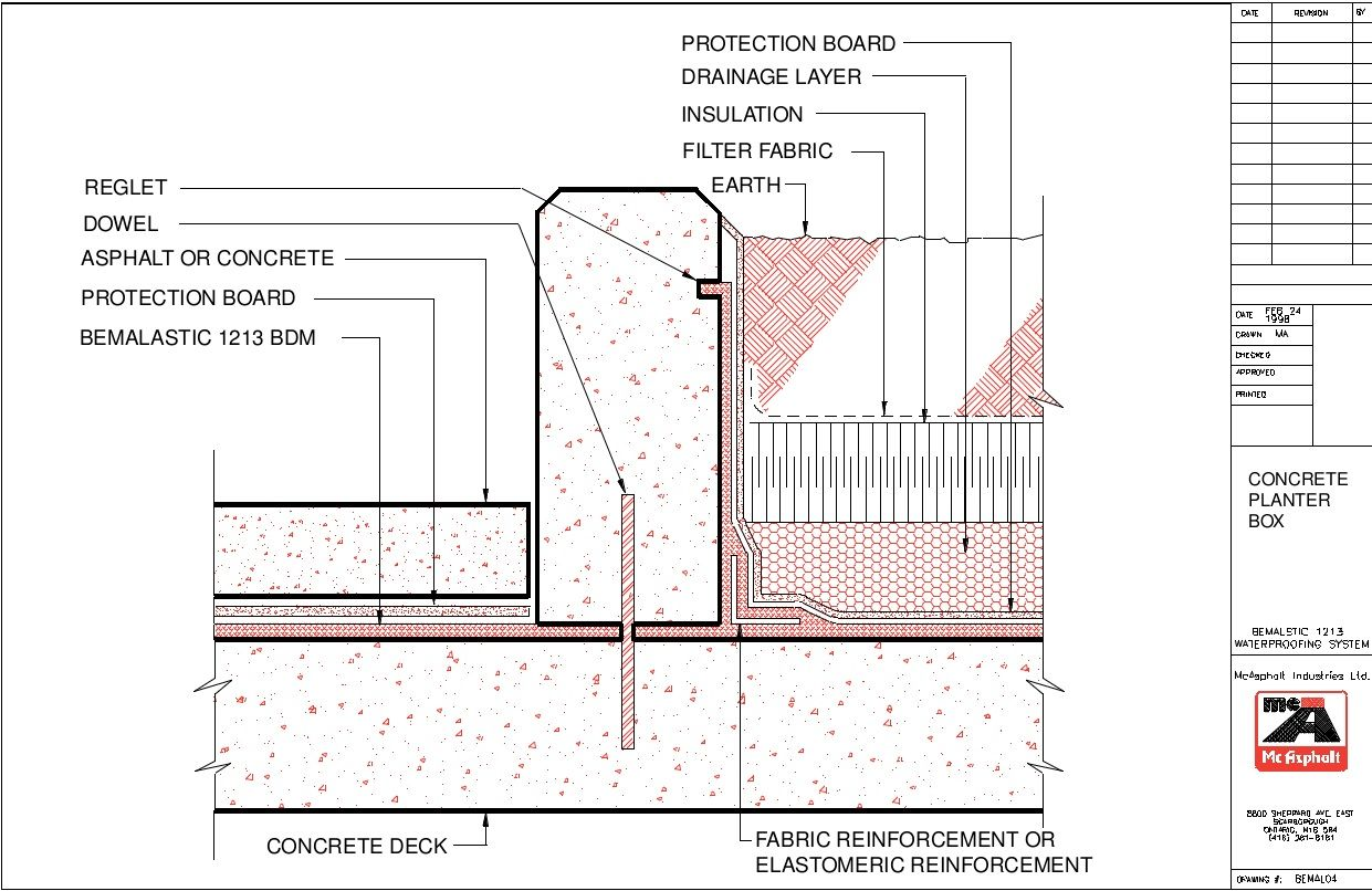 Waterproofing Concrete Planter Google Search Concrete Planter Boxes Planter Boxes Concrete Planters