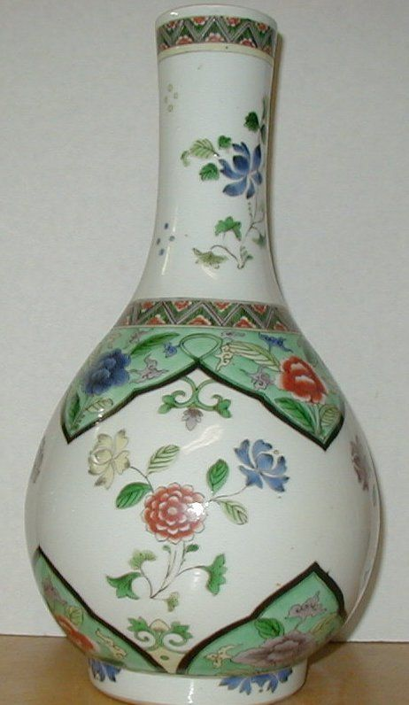300 Yr Old Chinese Famille Vert Kangxi Vase Ex Cavendish Collection