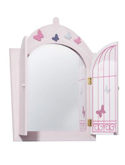Vertbaudet Kinderspiegel Mit Schmetterlingen In Rosa Spiegel