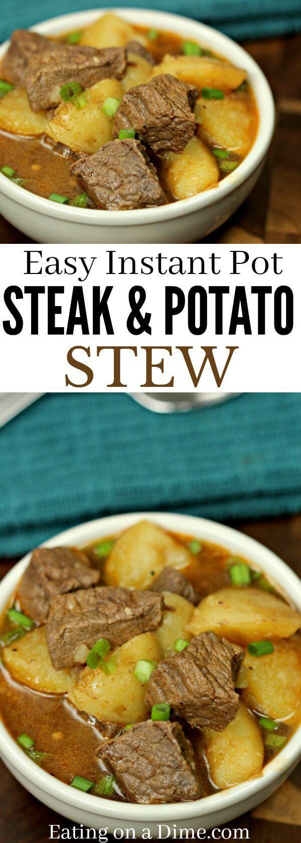 Steak and Potatoes Beef Stew Instant Pot Pressure Cooker #instantpotrecipeseasy