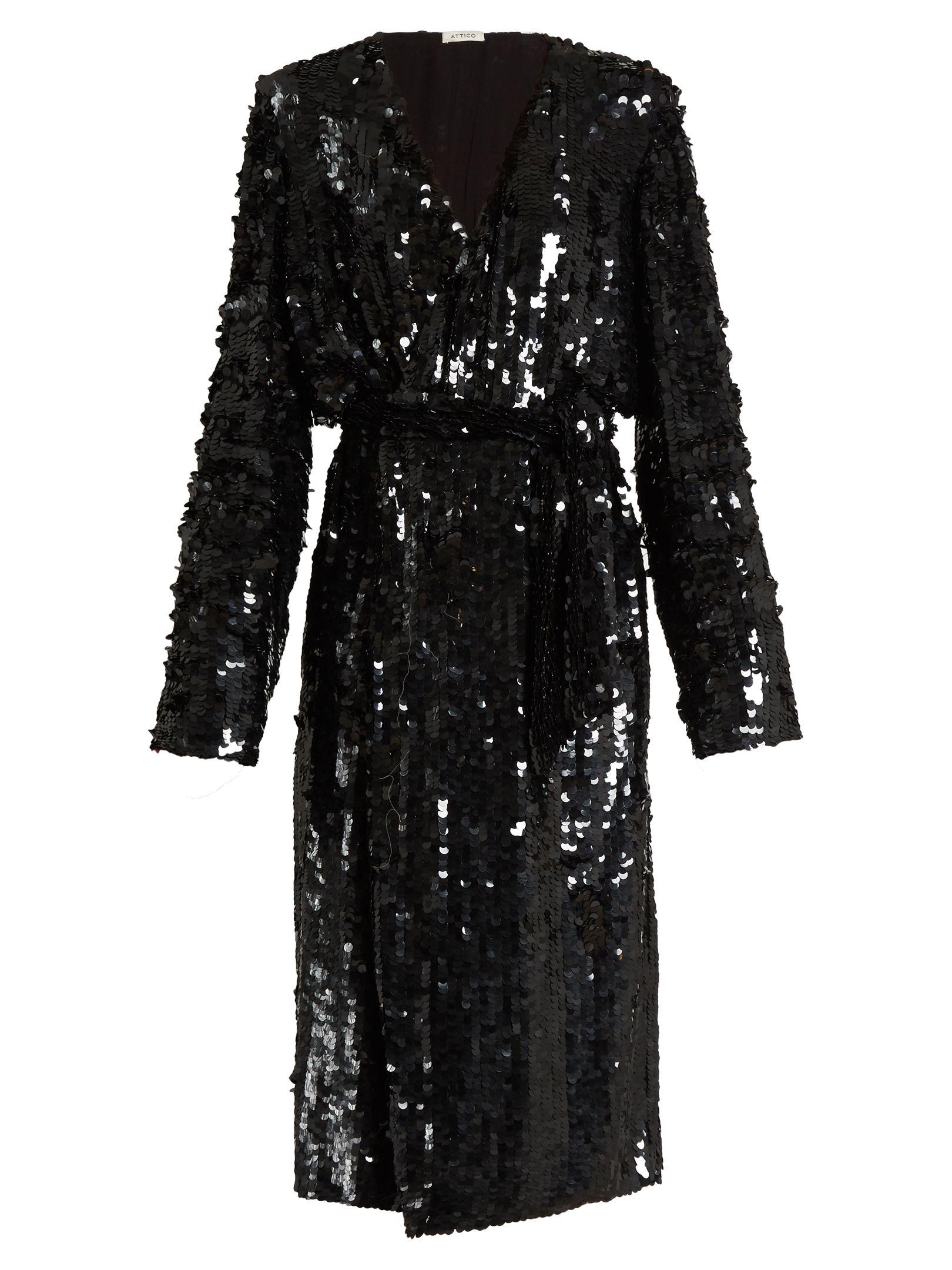 5c1df269eace4 ATTICO Dara sequin-embellished wrap dress | Dress | Dresses, Sequin ...